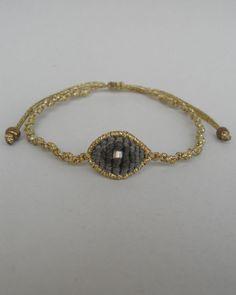 Items similar to Tiny bracelet, Eye bracelet Macrame evil eye Bohemian Mal de ojo Nazar Handwoven Micromacrame Adjustable Gold Khaki Mini evil eye Discreet on Etsy Macrame Jewelry, Macrame Bracelets, Jewelry Art, Macrame Art, Jewellery, Evil Eye Bracelet, Minimal Jewelry, Handmade Jewelry, Unique Jewelry