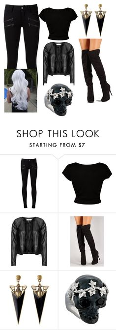 """""""Persephone"""" by marissasharp ❤ liked on Polyvore featuring Paige Denim, CO, Zizzi and Alexander McQueen"""