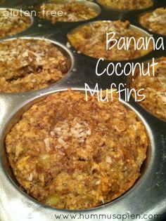 Banana Coconut Muffins (gluten-free)