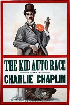 The Kid Auto Race Charlie Chaplin Vintage Movie Poster