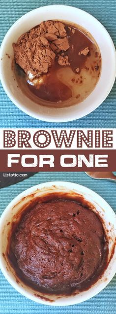 Quick and Easy Microwave Brownie Mug Cake Dessert For One -- the easiest and BEST chocolate dessert you will ever make! And it's vegan!!