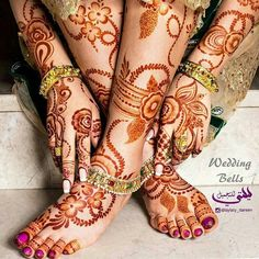 Beautiful Bridal Mhendi - New Mhendi Designs Leg Mehndi, Foot Henna, Mehndi Tattoo, Henna Tattoo Designs, Mehandi Designs, Hand Henna, Mehendi, Henna Mehndi, Wedding Henna Designs