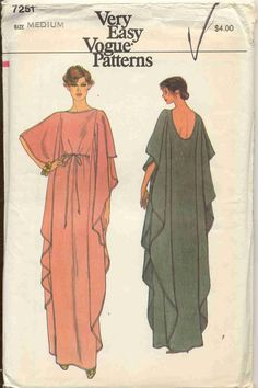 Very Easy Very Vogue 7251 - Vintage Caftan Pattern