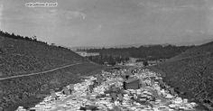 Αποψη του Παναθηναϊκού Σταδίου, πριν την κατασκευή του