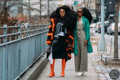 New York FW 2018 Street Style: TK Wonder and Cipriana Quann