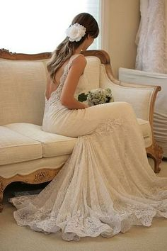 another beautiful dress with lace...