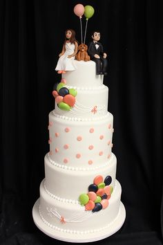 Balloon Wedding Cake www.cartelpoker.com