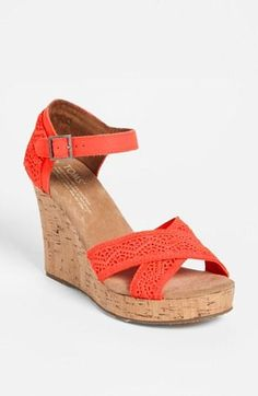 Get in my closet! TOMS crochet wedge sandals <3