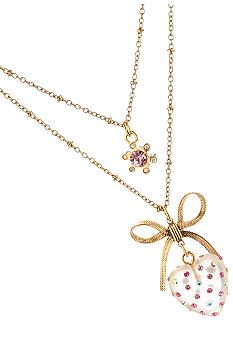 Betsey Johnson Clear Heart Necklace