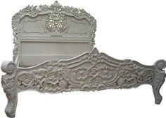 Image detail for -Rococo bed Antique White | Rococo Beds | French Rococo Beds | Rococo ...