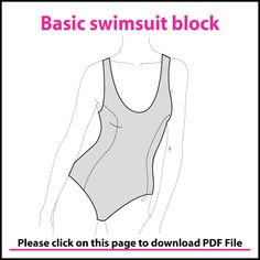 BASIC SCOOP NECK SWIMSUIT PATTERN