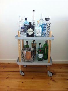 Normann Copenhagen Block Table as a bar cart