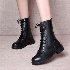 32365029919e8 20.18  Aliexpress.com  Acheter Automne et hiver 2016 la nouvelle angleterre  Martin bottes plate forme basse avec coins bottes femmes chaussures de  platform ...
