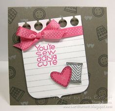 Paper Smooches - Notebook Paper set,  Notebook Bracket Die and Needle Little Love stamp set