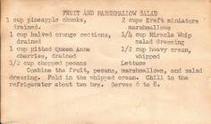 Fruit And Marshmallow Salad