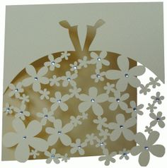 Silhouette Online Store - View Design #40326: wedding dress card