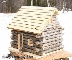 Cabaña de madera casa de muñecas naturales por ImagineNationShop