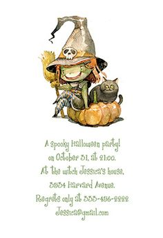 A spooky halloween party! printable invitation. Customize, add text and photos. print for free!