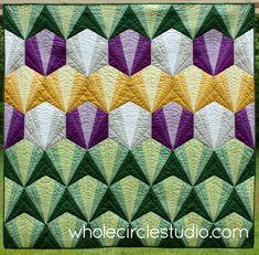 Deco Daybreak Quilt pattern by Sheri Cifaldi-Morrill | whole circle studio. Easy beginner foundation paper piecing pattern!