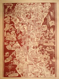 Seattle 1950s map