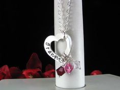 Sterling Silver Hand Stamped HEART Grammy by StampedByTheHeart, $48.00