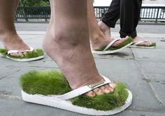 Grass flipflops??? What will they think of next, haha!  =)