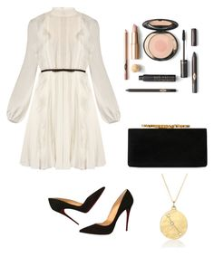 """Wedding day"" by faustine-aumaitre on Polyvore featuring mode, Giambattista Valli, Christian Louboutin, Jimmy Choo et BROOKE GREGSON"