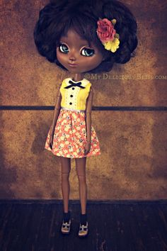 Parker, Beautiful Brown Pullip Custom Art Doll