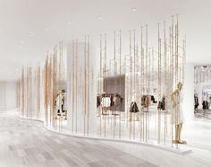 "SAKS FIFTH AVENUE, Toronto, Canada, ""Planting a metallic woodland"", photo by FRAME Magazine, creative by Unitfive Design, pinned by Ton van der Veer"