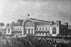 Palácio de Cristal aquando da sua inauguração, em 1865. Porto Portugal