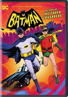 Adam West and Burt Ward returns to their iconic roles of Batman and Robin. Featuring the voices of Adam West, Burt Ward, and Julie Newmar, the film. Batman Robin, Adam West Batman, Batman 1966, Batman Art, Superman, Batman Returns, Streaming Hd, Streaming Movies, Julie Newmar