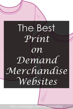 If you are are looking for a way to make money online, with little or no investment, you may want to try setting up your own merchandise store.Here we take a look at the most popular POD websites and what they can offer you. Tshirt Business, Craft Business, Creative Business, Business Tips, Online Business, Earn Money From Home, Way To Make Money, Make Money Online, Starting A Clothing Business