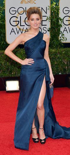 Amber Heard in Versace (Golden Globes 2014)