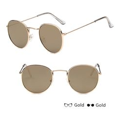 d82f7bffee New Mens Womens John Lennon Sunglasses Round Hippies Retro Vintage Brown  Fashion