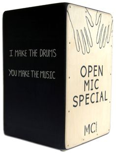 Cajon drum: custom made for local events promoter!