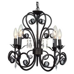 Portfolio 5-Light Black Chandelier. I would want this in white of course.