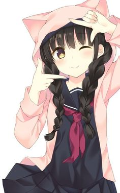 63 Ideas for eye anime art manga girl Anime Neko, Kawaii Anime Girl, Lolis Neko, Loli Kawaii, Anime Girl Cute, Beautiful Anime Girl, Anime Art Girl, Anime Girls, Anime Love