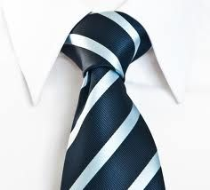 the new blue & white striped tie worn for profile photos #iwishmymanwouldwearthis