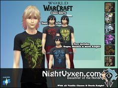Men's - World of Warcraft Shirts for male | SimsWorkshop