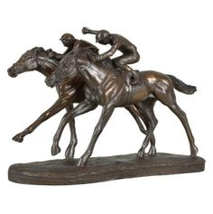 Racing Horses Sculpture Treniq Sculptures. View thousands of luxury interior products on www.treniq.com