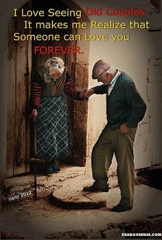 I Love Seeing Old Couples Awesome relationship advice for couples at http://savingarelationship.net/
