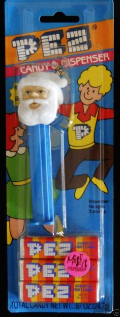 Misfit Santa Claus Pez Slovenia 4.9 Card Unopened Fruit Dispenser Candy Blue