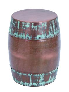 Stool Without Sharp Edges In Dark Copper Color