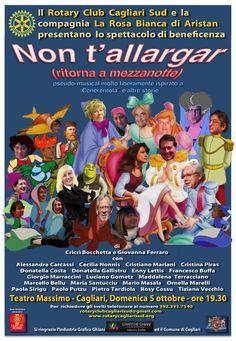 Locandina del musical di beneficenza organizzata dal Rotary Club Cagliari Sud al Teatro Massimo di Cagliari il giorno domenica 5 ottobre 2014 ore 19.30