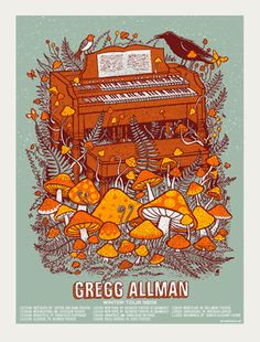 Gregg Allman Tour 09   Limited Edition Gig Posters Archives - Page 7 of 10 - Methane Studios