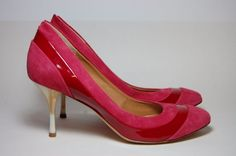 Women's Latitude Femme Pink and Red Vero Cuoio Pumps 36 1/2 Made in Italy #LatitudeFemme #PumpsClassics