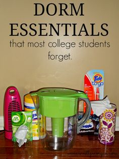 Essentials That Most Students Forget. College Essentials That Most Students Forget. Did you bring your Water Pitcher?College Essentials That Most Students Forget. Did you bring your Water Pitcher? Dorm Hacks, College Hacks, College Dorm Rooms, College Supplies, Dorm Room Food, College Room Decor, College Apartments, College Humor, College Necessities