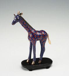 Vintage Cloisonne Enamel Giraffe