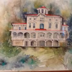 Packer mansion, Jim thorp, pa. Water color by Ruth Bush. love her work to see more follow me