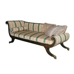 Early 19th Century Vintage Regency Period Painted Recamier Sofa